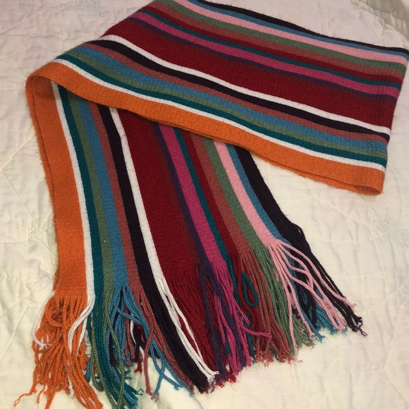 Accessories - Colorful striped scarf